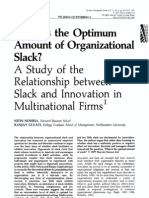 A study of the relationship between slack and innovation in multinational firms