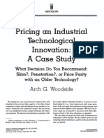 Pricing an industrial technological innovation