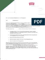 Stock Food Settlement Demand Letter