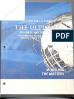 Modeling the Masters - UBMS Workbook