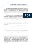 Senate RH Bill Position Paper