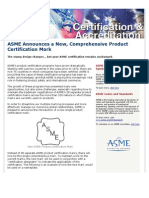 ASME Announces a New Certification Mark