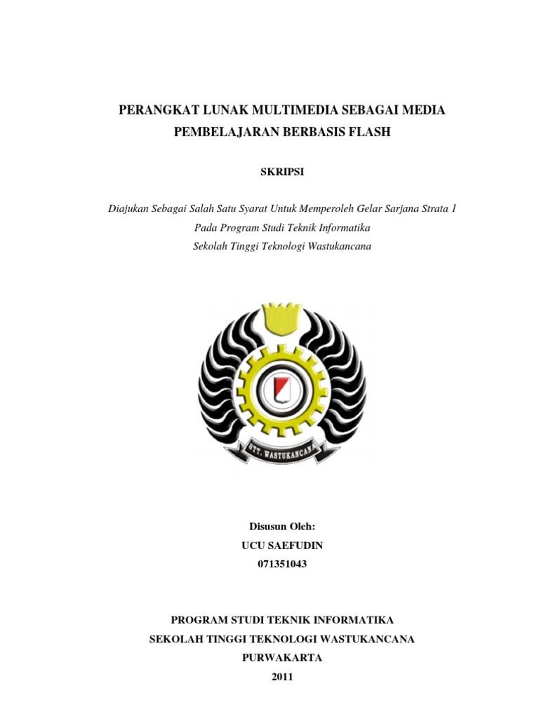 Skripsi Perangkat Lunak Multimedia