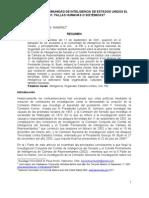 CAP 6. EL FRACASO DE LA COMUNIDAD DE INTELIGENCIA DE ESTADOS UNIDOS EL 11 DE SEPTIEMBRE DE 2001. ¿FALLAS HUMANAS O SISTEMICAS.