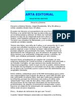Carta Editorial - Horacio y Jimena