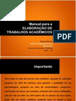 Manual Elaboração de Trabalhos Acadêmicos