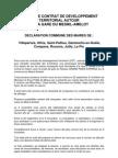 Déclaration des maires CDT