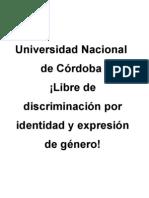 Identidad de Género UNC