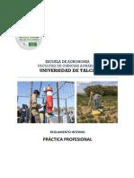 Reglamento Interno Práctica Profesional