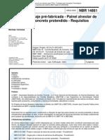 NBR 14861 - 2002 - Laje Pré-Fabricada - Painel Alveolar de Concreto Protendido - Requisitos