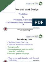 Work Flow and Work Design