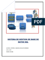 SISTEMA DE GESTION DE BASE DE DATOS SQL