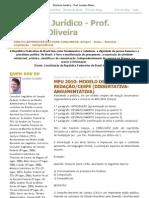 Diretório Jurídico - Prof. Luciano Oliveira_ MPU 2010_ MODELO DE REDAÇÃO_CESPE _(DISSERTATIVA-ARGUMENTATIVA_)