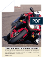 Aprilia RSV Mille 2001 gegen 2000