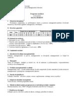 Programa Analitica Management Electronic A 2011
