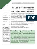 TDoR Newsletter
