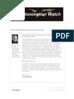 Innovation Watch Newsletter 10.24 - November 19, 2011