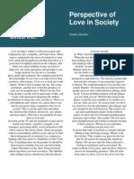 Love in Society