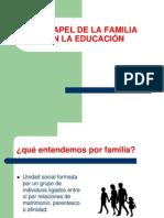 EL PAPEL DE LA FAMILIA EN LA EDUCACIÓN