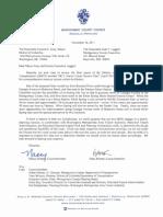 Montgomery Councilmembers Nancy Floreen & Hans Riemer Letter to Ike Leggett & Vince Gray