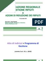 PARR2011 - PIANIFICAZIONE REGIONALEGESTIONE RIFIUTIGESTIONE RIFIUTI - Cozzi_Zerbinati
