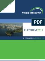 Vision Vancouver platform 2011