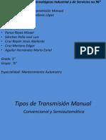 Tipos de Transmisión Manual