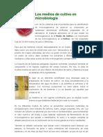 Los medios de cultivo en microbiología