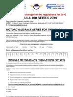 Formula 400 2010 Rules KDMC