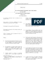 2009 EU Directive ProtectionofCompProgs