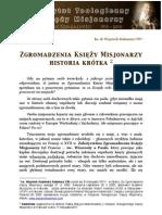 Katecheza o historii Zgromadzenia Księży Misjonarzy