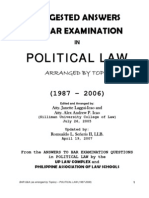 Constitutional Law Bar Exam Question 1987 - 2008
