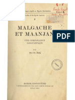 Dahl, Otto Christian. 1951. Malgache et maanjan