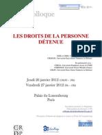 Programme définitif Colloque droits de la personne détenue