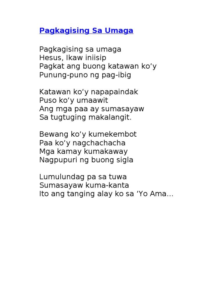 Lyrics pasasalamat ang alay ko sayo songs about ...
