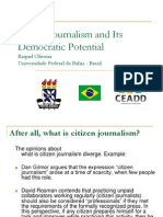 Citizen Journalism and Its Democratic Potential