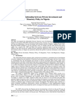 4.[30-39]Long Run Relationship Between Private Investment and Monetary Policy in Nigeria