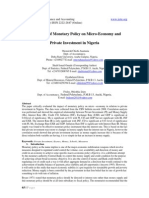 8.[65-75]the Impact of Monetary Policy on Micro-Economy and Private Investment in Nigeria