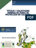 Zonas Protegidas y Mineria MAVDT