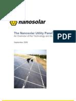 Nano Solar Utility Panel Whitepaper