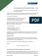 Metodo de Analisis de Inversiones Tir Van