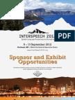Inter Speech 2012 Sponsor and Exhibit Opportunities Brochure