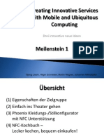 Creating Innovative Services with Mobile and Ubiquitous Computing - Drei innovative neue Ideen