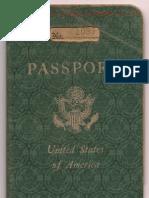 1951 US Passport of Glenn Hubert Newport.