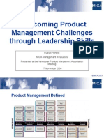 Product Management Through Leadership - VPMA