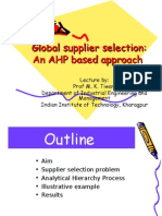 Supplier Selection Fuzzy AHP