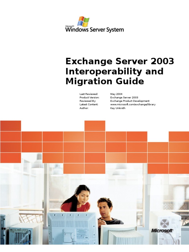 Exchange 2003 Interoperability And Migration Guide Ibm Notes Microsoft Outlook