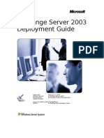 Exchange 2003 Deployment Guide