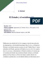 Gramsci, Antonio - El Estado y El Socialismo spa