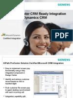 HiPath ProCenter V7-0 Microsoft CRM